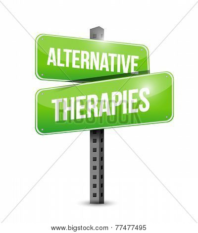 Alternative Therapies Sign Illustration