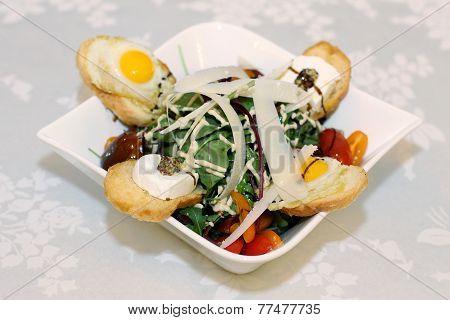 Italian salad on table at restaurant