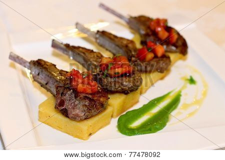 Delicious grilled ribs