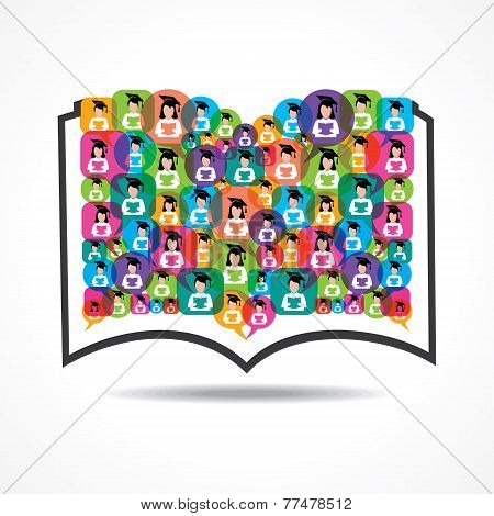 Book Icon graduate student icon stock vector