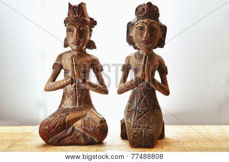 Thailand Wooden Couple