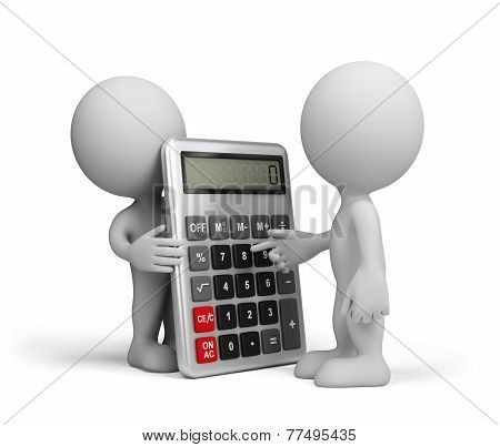 A Man With A Calculator