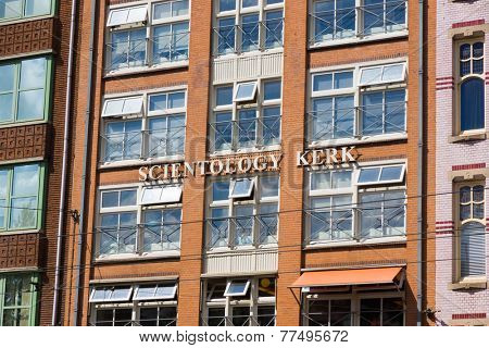 AMSTERDAM - AUGUST 31: The building of the Church of Scientology at fay time on August 31, 2014 in Amsterdam.