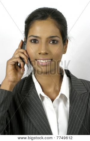 business woman talking on mobile