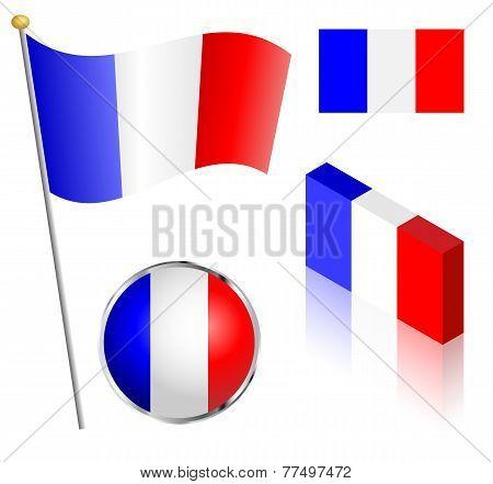 French Flag Set
