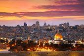 View of Jerusalem old city. Israel poster