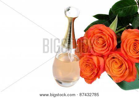 Orange Roses With Parfume