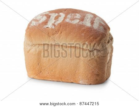 Fresh Spelt Bread Isolated On A White Background