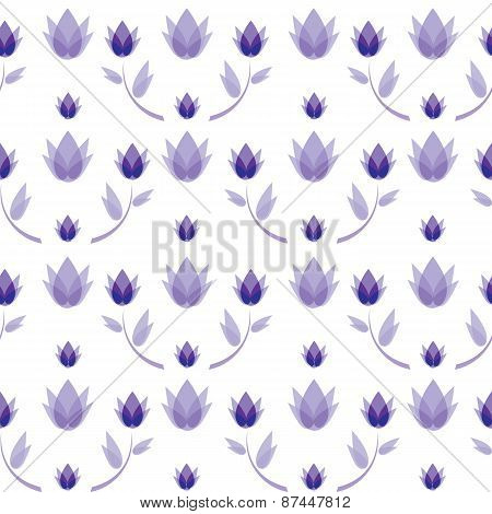 vector seamless pattern abstract flowers background
