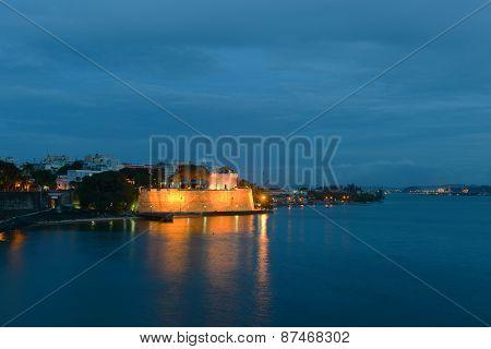 La Fortaleza at night, San Juan, Puerto Rico