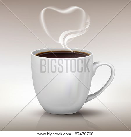 I Love Black Coffee Realistic Cup