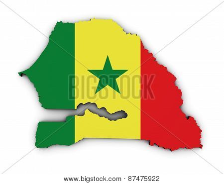 Senegal Map Flag Shape