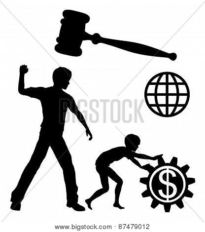 Child laborers being abused by business and industries in order to yield high profits must be prohibited by law worldwide poster