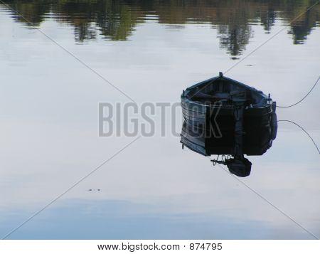 Moored Fishermans Boat