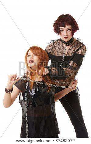 Strangulation as sexual fetish. BDSM concept