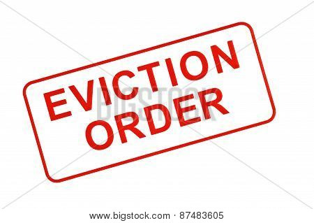 EVICTION ORDER Stamp In Red