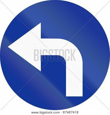 Turn Left Ahead In Poland