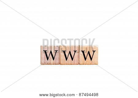 Acronym Www- World Wide Web Isolated With Copy Space