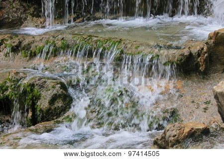 Fresh Water In A Stream.