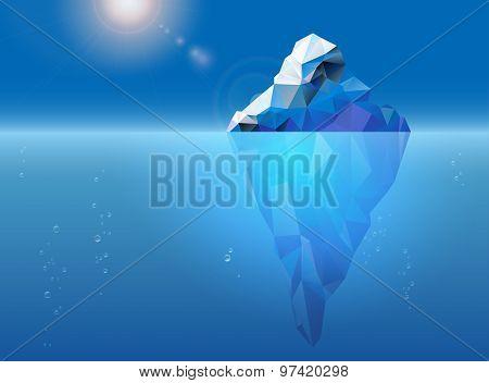 Iceberg Floating On The Sea Surface