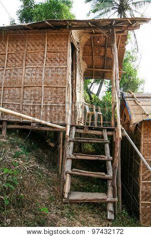 Cheap straw hut accommodation in arambol goa india poster