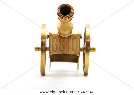 golden Canon Isolated on White From Front Perspective