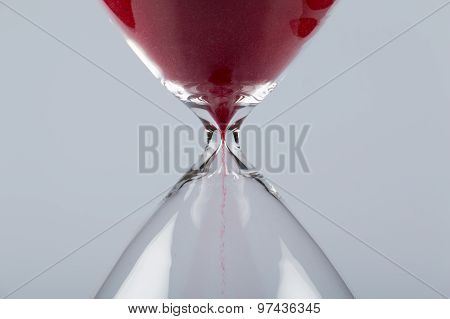 Red Sand In An Hourglass, Horizontal