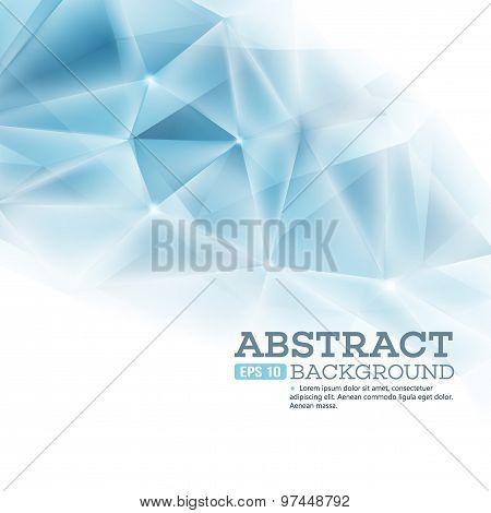 Cristal triangla background. Vector illustration