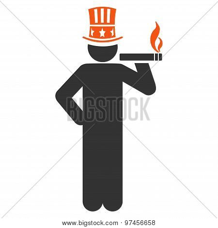 Capitalist Flat Icon From Business Bicolor Set