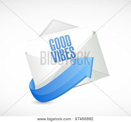 good vibes email sign concept illustration design graphic poster