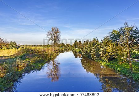 Landscape At River Nidda In Frankfurt