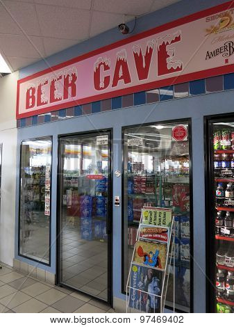 Beer Cave Inside Convenience Store