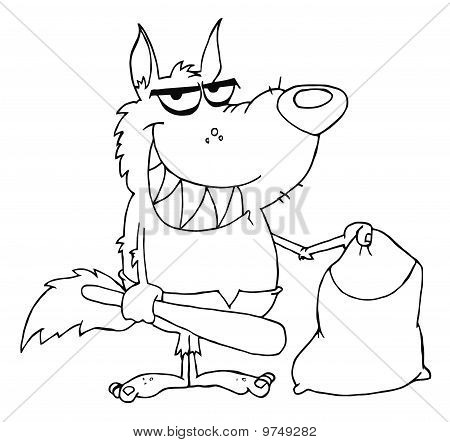 Contorneado sonrió Werewolf Club y bolso
