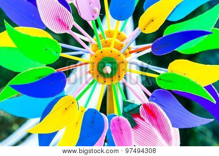 Colorful Pin Wheel In Chiangmai Thailand
