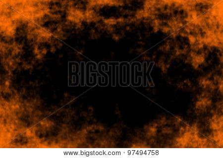 Halloween hell fire background party invitation border