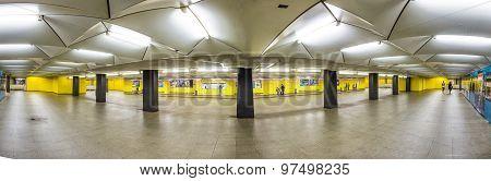 Metro Station For S And U-bahn Eschenheimer Turm In Frankfurt