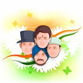 vector illustration of Indian people of different culture standing together, Unity in Diversity poster