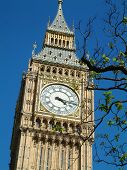big ben - clock tower of the houses of parliament in london england. poster