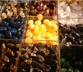 colourful stones for sale to bring luck to buyers! poster