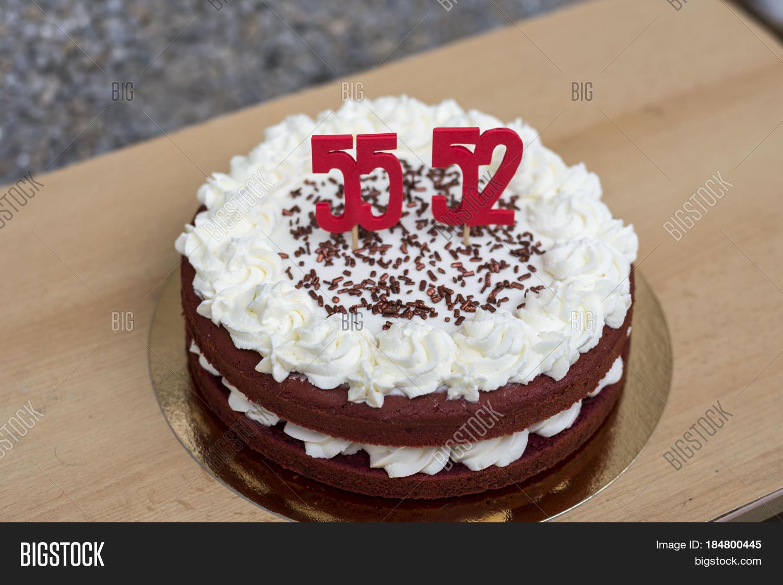 Homemade Red Velvet Birthday Cake