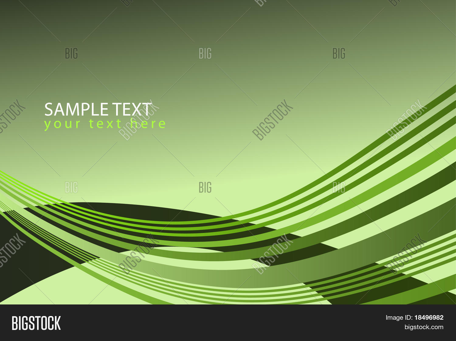 Vector - Wave Pattern Lime Green Vector & Photo