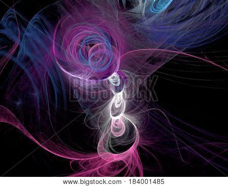 Abstract Multicolored Fractal Pattern