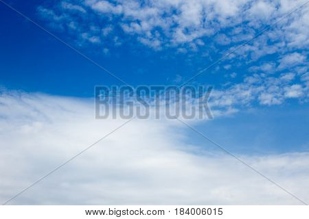 Beautiful Clouds And Blue Sky Background. Nature Composition.