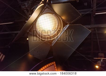 spotlights on a theatre stage