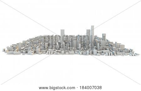 city with different types of architecture and building styles