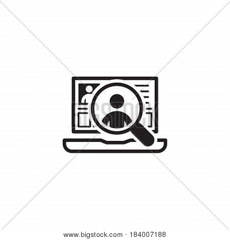 Recruitment Icon. Business Concept. Flat Design Isolated Illustration