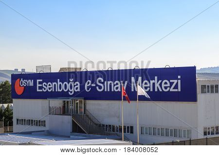 At Esenboga exam center in Ankara Turkey- April 29 2017:(Esenboga e-sinav merkezi) Center of electronic exams in esenboga during e-yds (electronic foreign language exam) in Ankara Turkey)