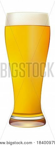 Excellent Isolated glass of beer with drops. Vector illustration