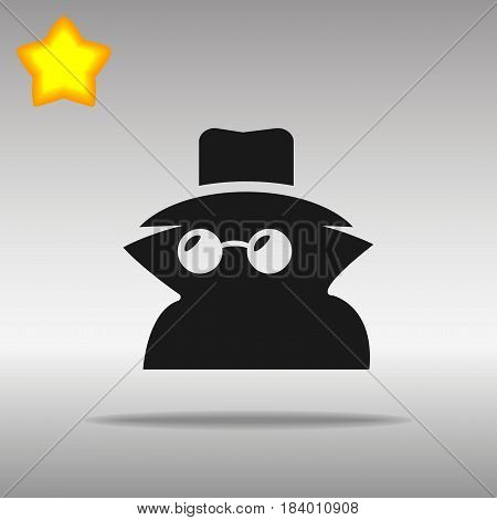 black Incognito Icon button logo symbol concept high quality on the gray background