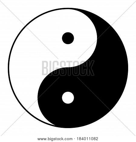 Yin yang symbol of harmony and balance.